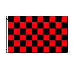 Black & Red Checkered Flag 3' x 5'