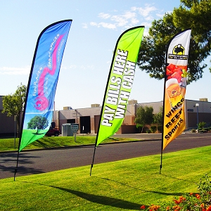8ft Ad-Flag/Feather Flag (Small)