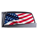 USA Flag Rear Window Decal
