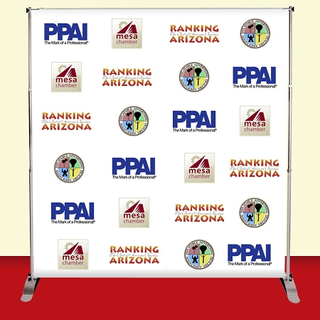 Step-and-Repeat Retractable Banner Stand