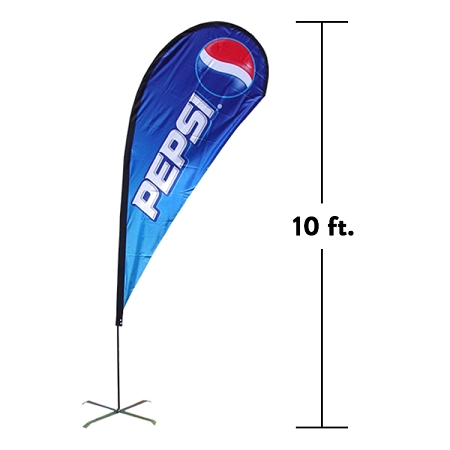10ft Teardrop Flag (Large)