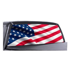 American Flag Back Window Decals Full Color Wholesale