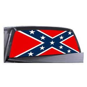 Rebel Flag Back Window Decals Full Color Wholesale