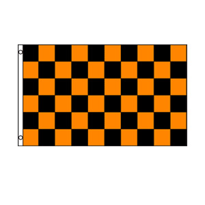 Black & Orange Checkered Flag 3' x 5'