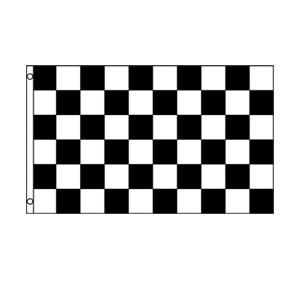 Black & White Checkered Flag 3' x 5'