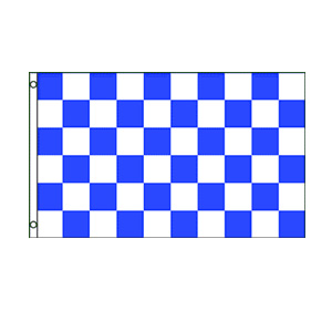 Blue & White Checkered Flag 3' x 5'