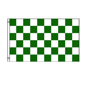 Green & White Checkered Flag 3' x 5'