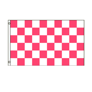 Pink & White Checkered Flag 3' x 5'
