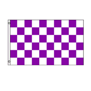 Purple & White Checkered Flag 3' x 5'