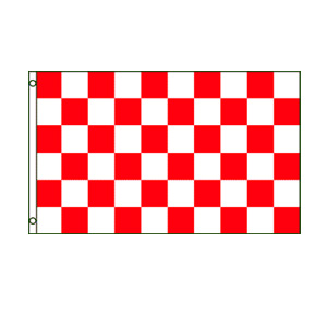 Red & White Checkered Flag 3' x 5'