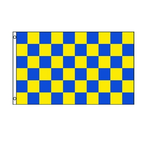 Blue & Yellow Checkered Flag 3' x 5'