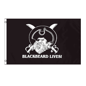 Black Beard Lives Flag 3' x 5'