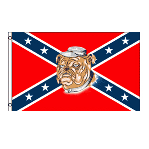 Rebel Bulldog Flag 3' x 5'