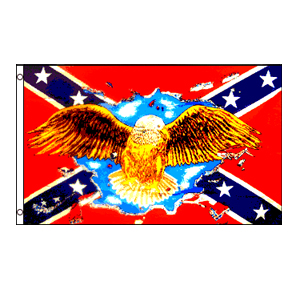 Rebel Eagle Sky Flag 3' x 5'