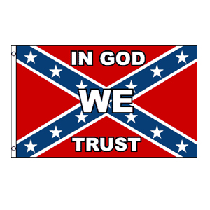 In God We Trust Confederate Flag 3' x 5'