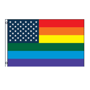 Rainbow US Stars Flag 3' x 5'