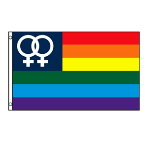 Double Venus (Small) Rainbow Flag 3' x 5'