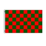 Red & Green Checkered Flag 3' x 5'