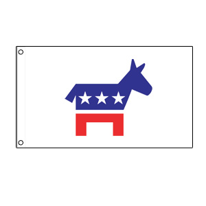 Democrat Donkey Flag 3' x 5'