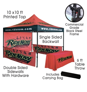 10x10 Tent Package with Table Cover