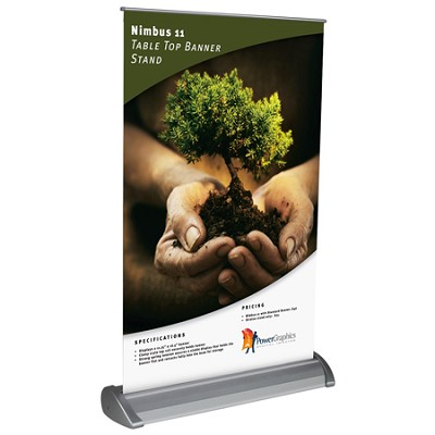 "11.75"" x 17"" Tabletop Retractable Large Banner Stand"
