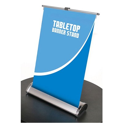 "8.5"" x 11"" Tabletop Retractable Mini Banner Stand"