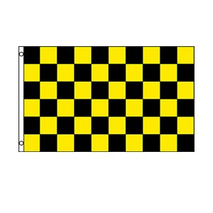 Black & Yellow Checkered Flag 3' x 5'