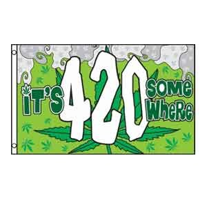 It's 4:20 Somewhere Flag 3' x 5'